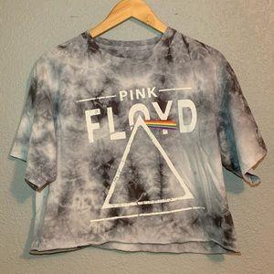 Pink Floyd Tie Dye Crop Top